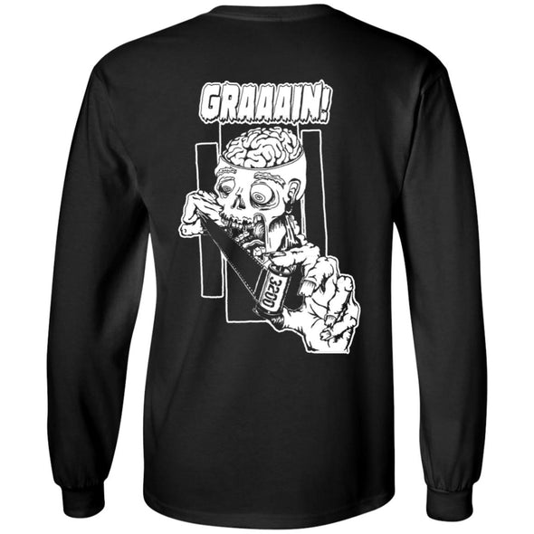 Zombie Wants Grain Long Sleeve Ultra Cotton T-Shirt - Shoot Film Co.