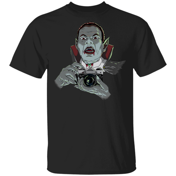 Vampire with SLR 35mm Film Camera Standard Quality Short Sleeve T-Shirt - Shoot Film Co.