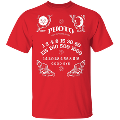 Light Capturing Oracle Ouija Board Front Print Short Sleeve T-Shirt