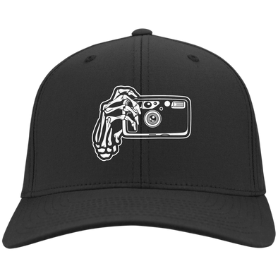 Skeleton Hands Point & Shoot Camera Twill Cap - Shoot Film Co.