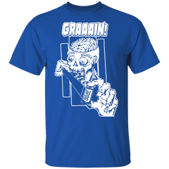 Zombie Wants Grain Front Print Short Sleeve T-Shirt