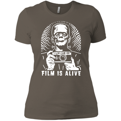 "Film is Alive ""Frank & His Camera"" Ladies Fit T-Shirt - Shoot Film Co."