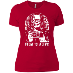 "Film is Alive ""Frank & His Camera"" Ladies Fit T-Shirt"