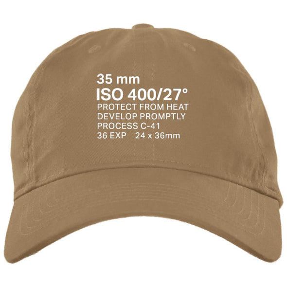 35mm Film Package Brushed Twill Unstructured Dad Cap - Shoot Film Co.