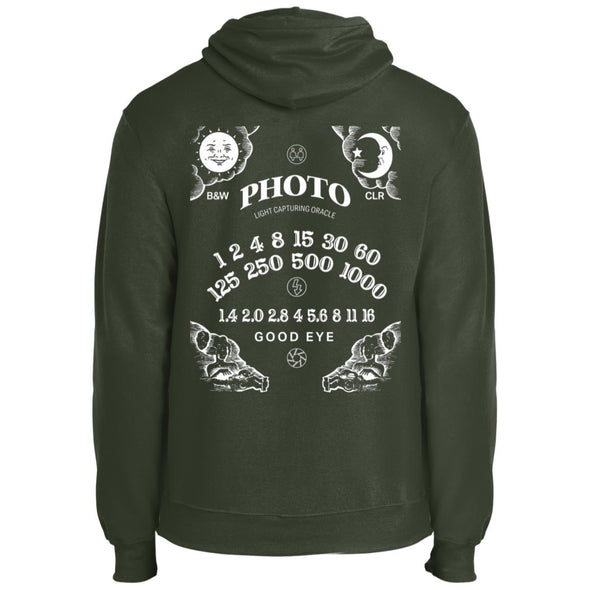 Light Capturing Oracle Ouija Board Photography Core Fleece Pullover Hoodie - Shoot Film Co.
