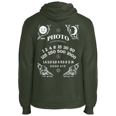 Light Capturing Oracle Ouija Board Photography Core Fleece Pullover Hoodie