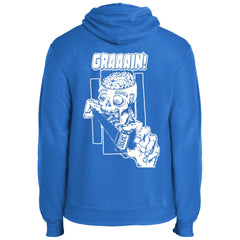 Zombie Wants Grain Fleece Pullover Hoodie