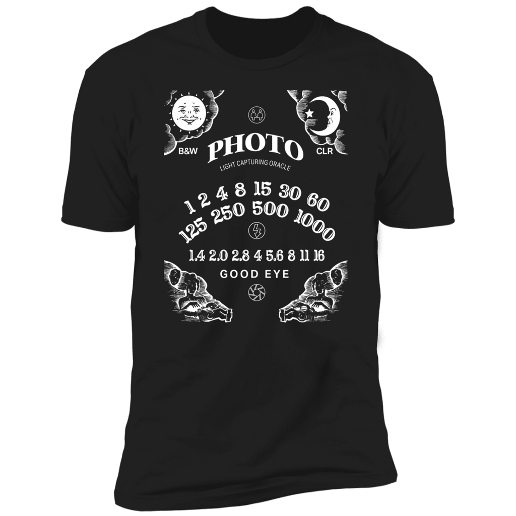 Light Capturing Oracle Ouija Board Front Print Premium Short Sleeve T-Shirt