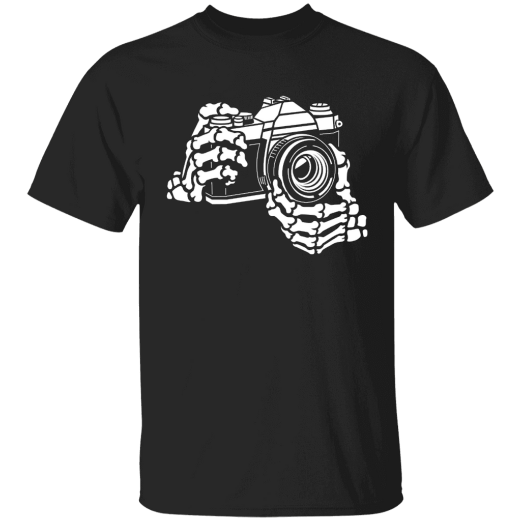 Skeleton Hands 35mm SLR Film Camera T-Shirt