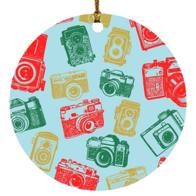 Vintage Cameras Ornament - Shoot Film Co.
