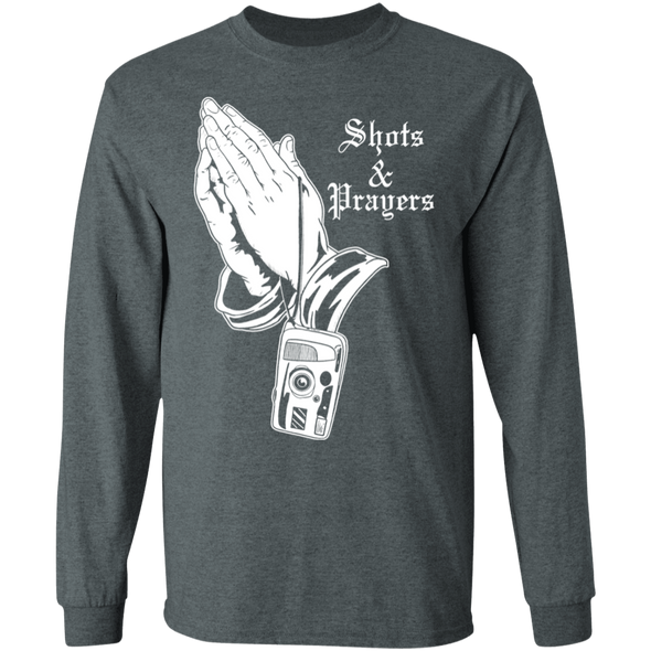 Shots and Prayers Long Sleeve Cotton T-Shirt - Shoot Film Co.