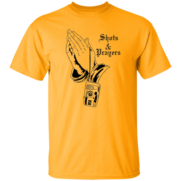 Shots and Prayers Standard Quality Short Sleeve T-Shirt - Shoot Film Co.