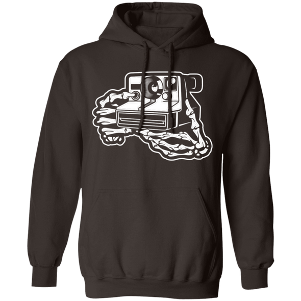 Skeleton Hands Instant Camera Pullover Hoodie - Shoot Film Co.