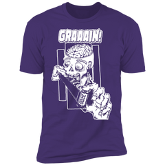 Zombie Wants Grain FRONT ONLY Premium Short Sleeve T-Shirt