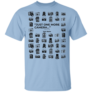 """One More Camera"" Personalized T-Shirt - Shoot Film Co."