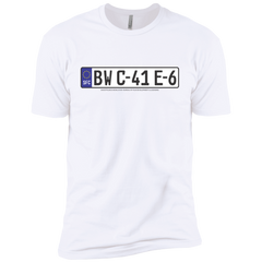 Euro License Plate Film Dev Premium Short Sleeve T-Shirt