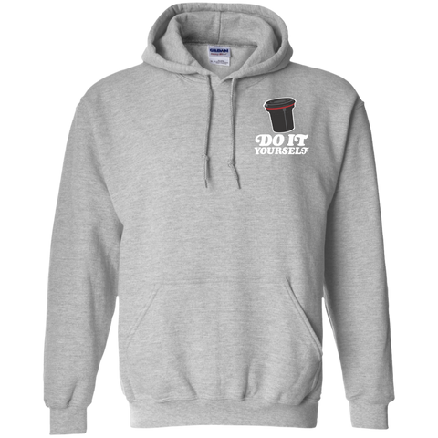 Do It Yourself Pocket Logo Pullover Hoodie