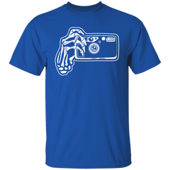 Skeleton Hands Point & Shoot Film Camera T-Shirt Standard Quality