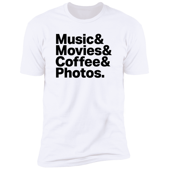 Music & Movies & Coffee & Photos Premium Short Sleeve T-Shirt - Shoot Film Co.