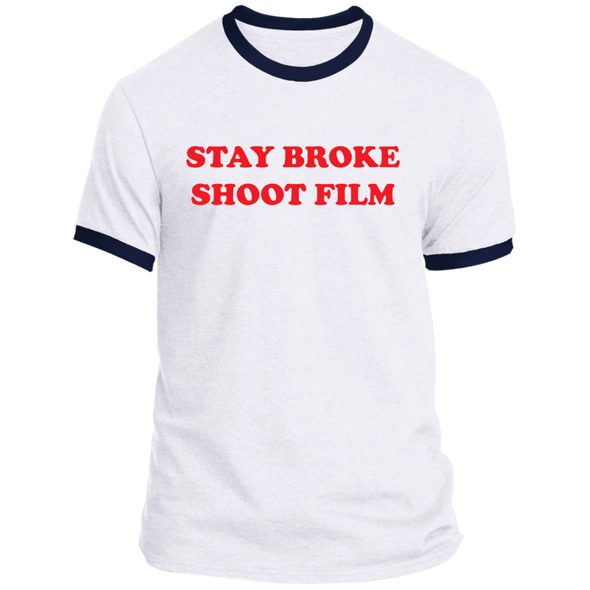 Stay Broke Shoot Film Ringer T-Shirt - Shoot Film Co.