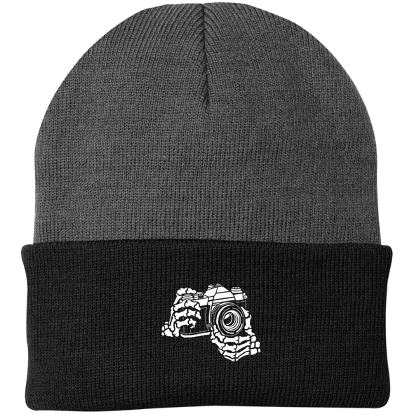 Skeleton Hands 35mm SLR Beanie - Shoot Film Co.