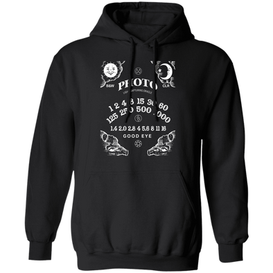 Light Capturing Oracle Ouija Board Photography Front Print Hooded Sweatshirt - Shoot Film Co.