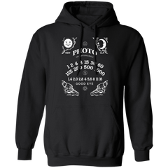 Light Capturing Oracle Ouija Board Photography Front Print Hooded Sweatshirt