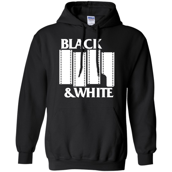 Black & White Film - White on Dark Pullover Hoodie Sweatshirt - Shoot Film Co.