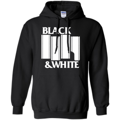 Black & White Film - White on Dark Pullover Hoodie Sweatshirt