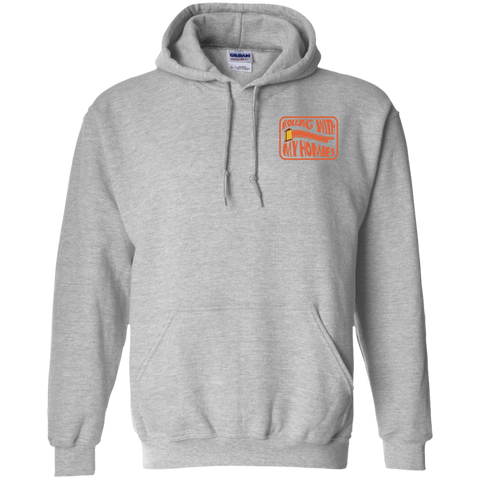 Rolling With My Homies Pocket Logo Pullover Hoodie