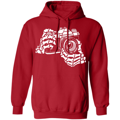 Skeleton Hands 35mm SLR Film Camera Pullover Hoodie Sweatshirt - Shoot Film Co.