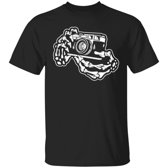 Skeleton Hands Rangefinder 35mm Film Camera T-Shirt Standard Quality - Shoot Film Co.