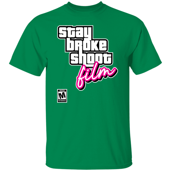 Stay Broke Shoot Film Video Game Style Short Sleeve T-Shirt - Shoot Film Co.