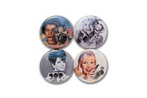 Golden Age Cam Glam 1-Inch Button Set - Shoot Film Co.