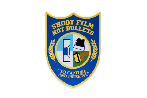 Shoot Film Not Bullets Vinyl Sticker