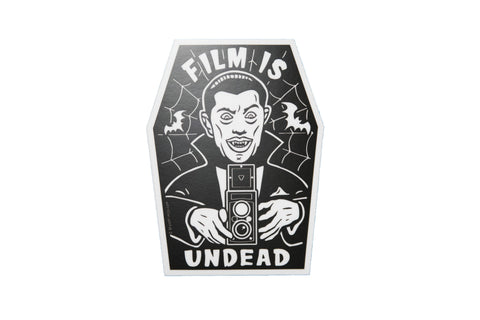 Film is UNDEAD Vinyl Sticker