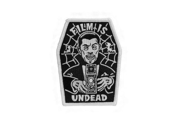 Film is UNDEAD Glow in the Dark Embroidered Patch - Shoot Film Co.