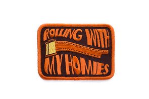 Rolling With My Homies Embroidered Patch - Shoot Film Co.