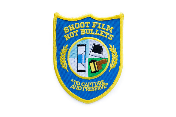 Shoot Film Not Bullets Embroidered Patch - Shoot Film Co.