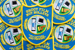 Shoot Film Not Bullets Embroidered Patch