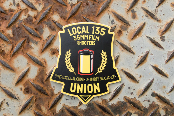 Film Shooters Union - Local 135 35mm Film Shooters Sticker - Shoot Film Co.