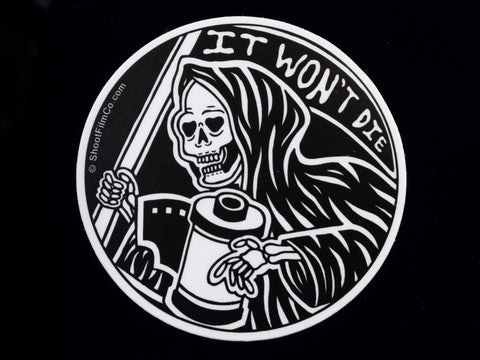 It Won't Die Film Photography Vinyl Sticker