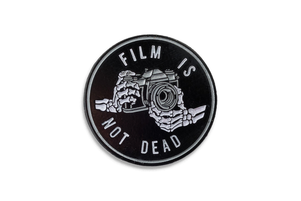 Film is Not Dead Glow in the Dark Lapel Pin