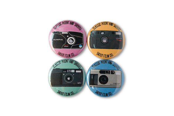 Classic Point & Shoots 1-Inch Button Set - Shoot Film Co.