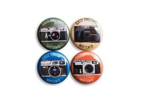 "Classic Rangefinders 1"" Button Set - Shoot Film Co."
