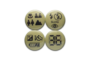 LCD Symbols 1 Inch Button Set - Shoot Film Co.