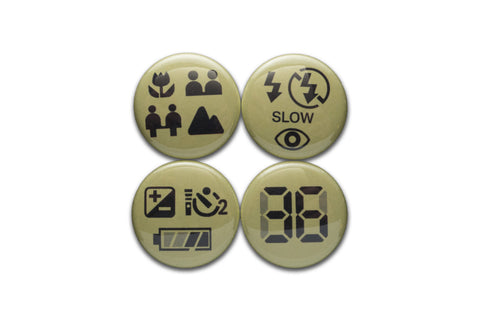 LCD Symbols 1 Inch Button Set