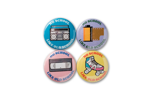 No School Like Old School 1 Inch Button Set - Shoot Film Co.