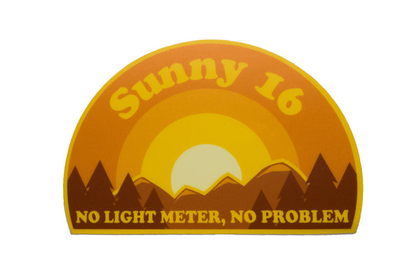 Sunny 16 Version 2 Vinyl Sticker - Shoot Film Co.
