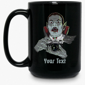 Personalized Vampire SLR 35mm Film Camera 15 oz Mug - Shoot Film Co.